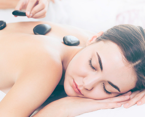 Winter hot stone massage